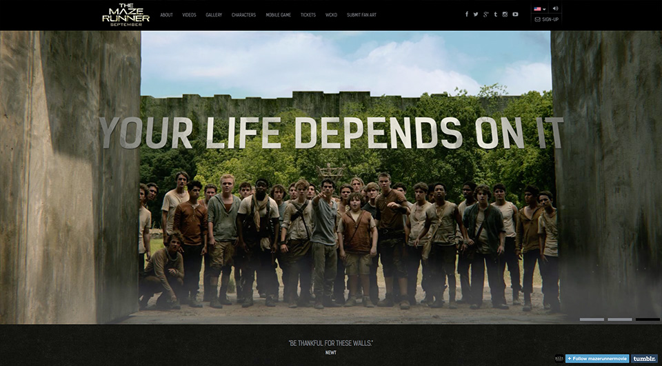 Movie Websites | The Maze Runner