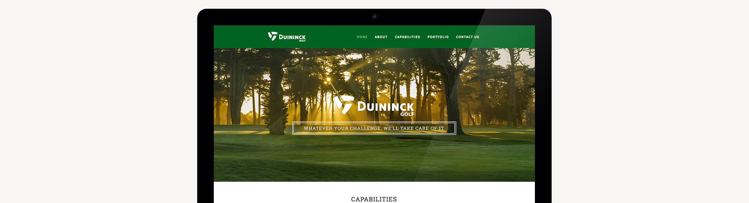 Duininck Golf Website Design | Macleod & Co. | Full Service Marketing Agency Minneapolis