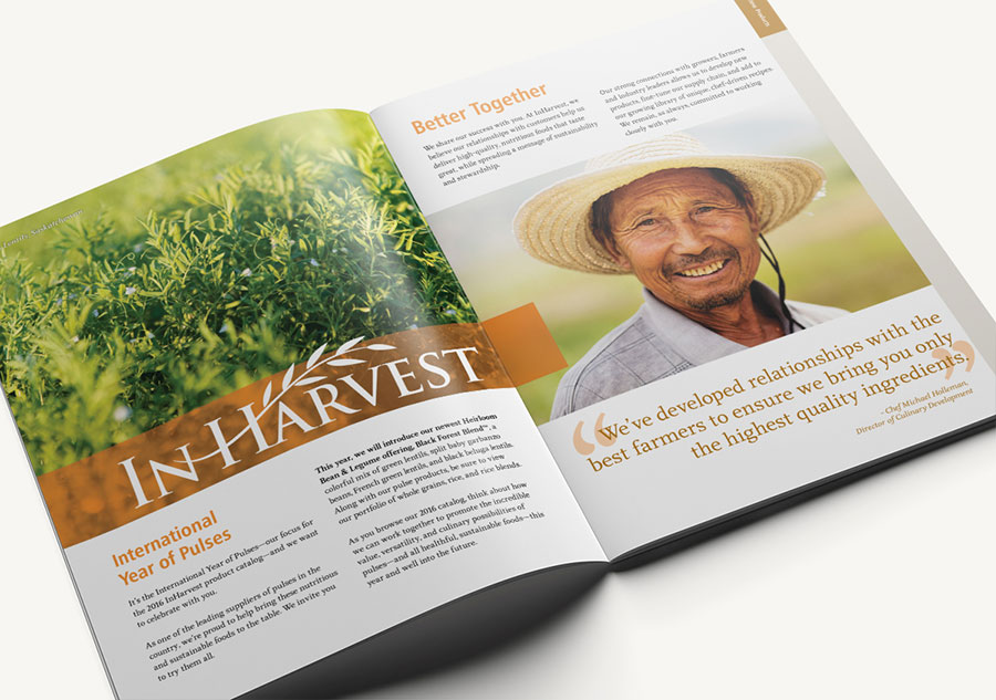 InHarvest Catalog Design | Macleod & Co. The Holistic Marketing Agency Minneapolis
